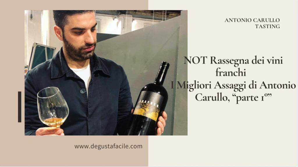 """NOT Rassegna dei vini franchi  –  I Migliori Assaggi di Antonio Carullo, """"parte 1"""""""